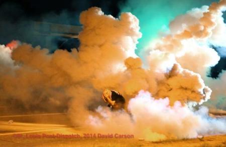 David Carson Ferguson tear gas