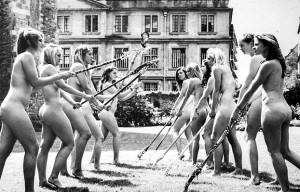 Naked field hockey