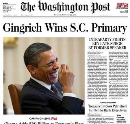 Obama reacts to Gingrich SC victory